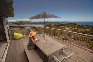 Deck of Oneroa holiday house Waiheke Island